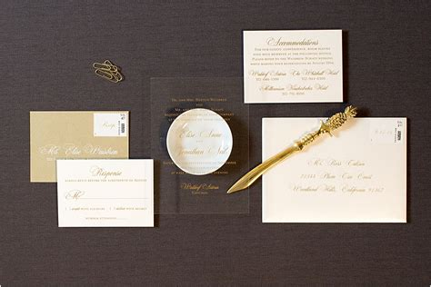 Invitation Printing by Acrylic Invitations With Gold Printing Gourmet Invitations