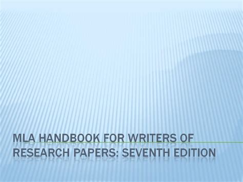 mla handbook for writers of research papers 7th edition pdf mla handbook for writers of research papers 7th edition