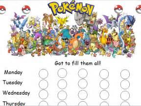 pokemon reward chart by caitrionahansen teaching
