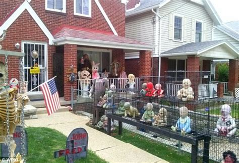 joe d auria terrifies neighbors with graphic halloween