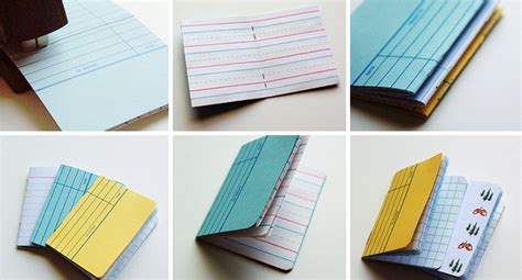 How To Make Handmade Notebooks - make these library card notebooks paper and stitch