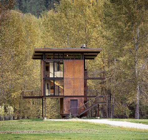 cool cabin adaptable prefab cabin retreat with cool operable windows