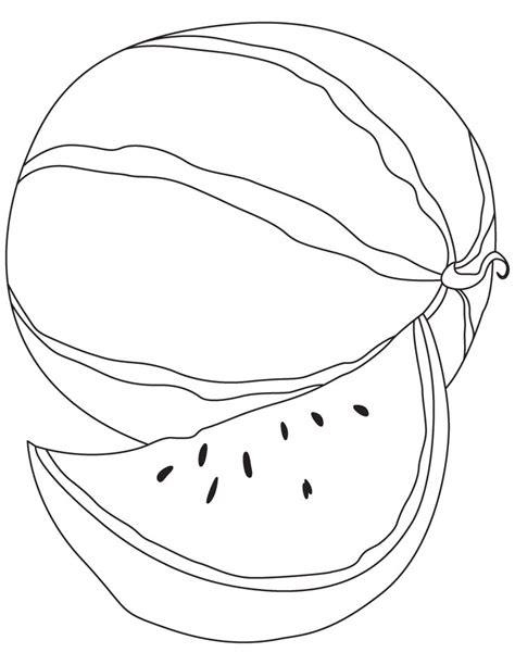 Free Coloring Pages Of Melon Watermelon Coloring Page