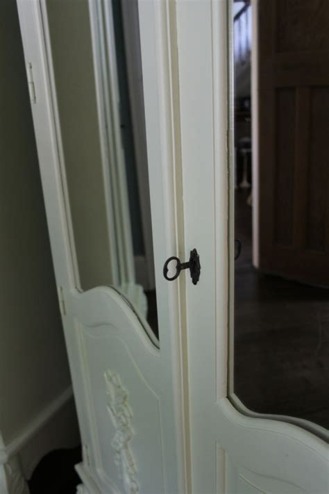 Wardrobe 110cm Wide by Large Mirrored Armoire Wardrobe Ivory