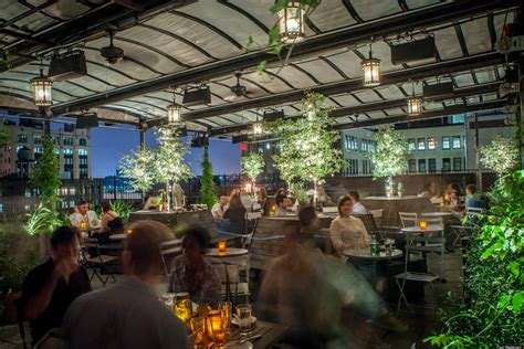 top bars in nyc gallow green nyc s rooftop space enchants guests at sleep no more hotel huffpost