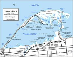 Presque Isle State Park Map by Map Presque Isle Bay And Cascade Creek Fisherie Com