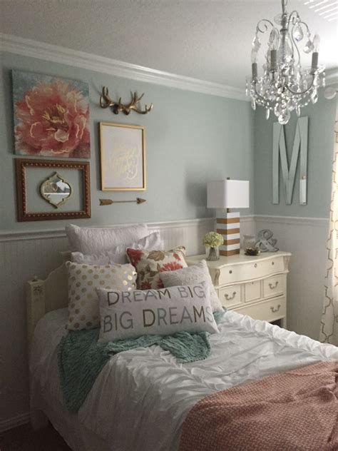 white girl bedroom decoration girls bedroom mint coral blush white metallic gold