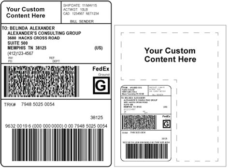 Fedex Ground Shipper Number Gsn Updates Custom Shipping Label Template