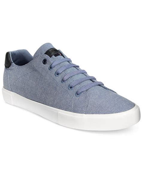 macys mens sneakers hilfiger s pawley low top chambray sneakers