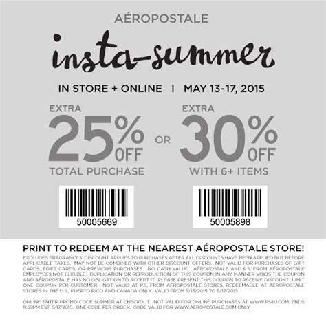 printable barcode 40 off coupon code 2015 best auto reviews aeropostale coupons 10 off 40 at aeropostale also 50