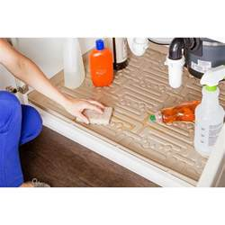 Kitchen Cabinet Mats Xtreme Mats Beige Kitchen Depth Sink Cabinet Mat Drip Tray Shelf Liner 27 1 8 In X 21 1