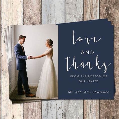 Wedding Thank You Card Wedding Bridal Thank You Card PIY