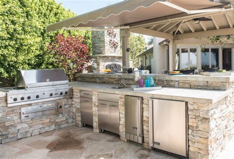 yorba linda kitchen island after photo turned legs design options grow as cooks turn more to outdoor kitchens