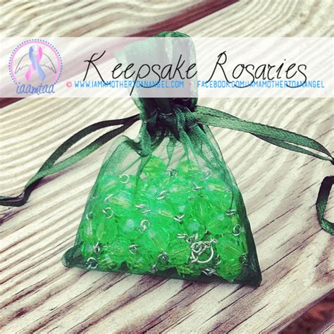 Handmade Keepsakes - handmade keepsake rosary green i am a to an