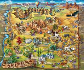 map of arizona tourist attractions arizona map arizona mappery