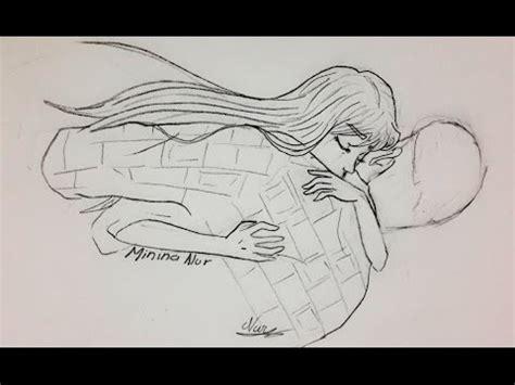 imagenes a lapiz de parejas enamoradas como dibujar una pareja abrazada anime youtube
