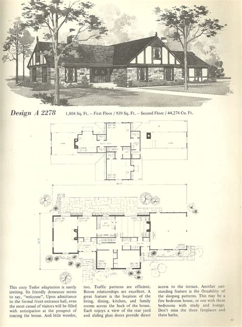 historic tudor house plans 1000 ideas about vintage house plans on pinterest