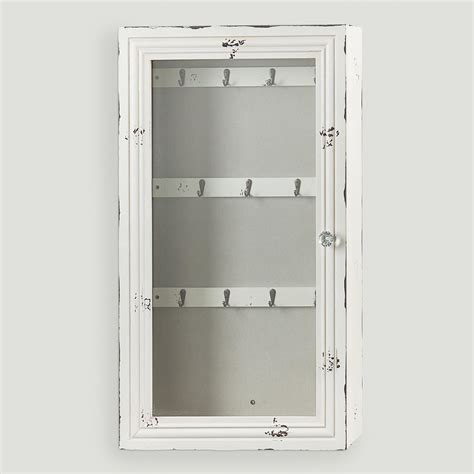 Jewelry Armoire Antique White by Antique White Nali Wall Jewelry Armoire World Market