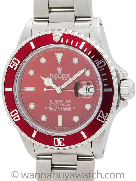Wanna Buy A Watch?   Rolex Submariner ref 16610 circa 1987 Custom ?Ruby Red? DialRolex