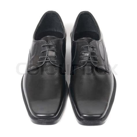 black and white school shoes pair of s black shoes isolated on white background