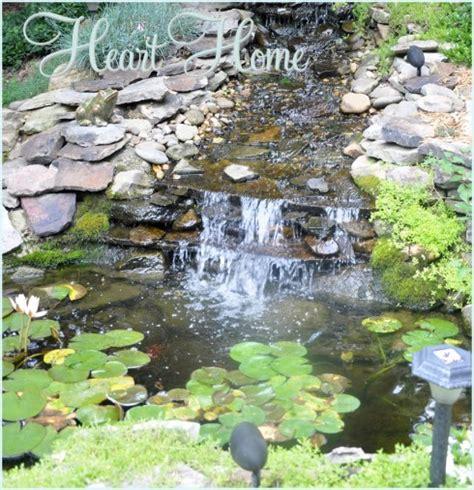 diy backyard pond diy backyard waterfall pond all things heart and home