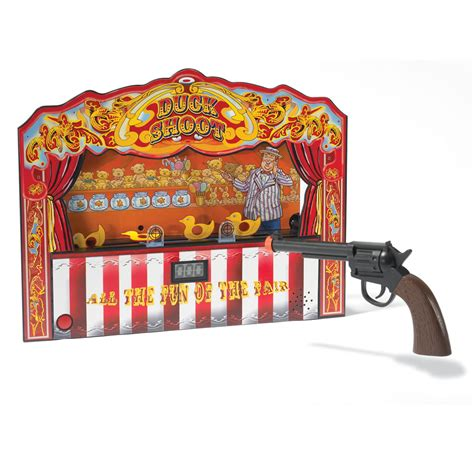 Duck Shoot Brings The Experience Of The Carnival To Your Home by The Carnival Duck Shooting Hammacher Schlemmer
