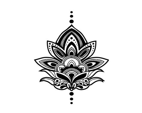 henna tattoo custom designs henna lotus temporary set of 2 gift