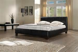 Leather King Size Bed Frame Birlea Black Leather King Size Bed Frame Bedframeshop Co Uk