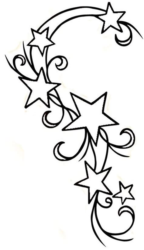 cute star tattoo designs design for my shoulder but change some of the