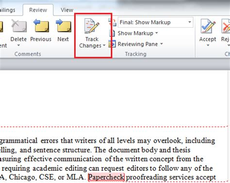 microsoft remove editor comments — word 2010