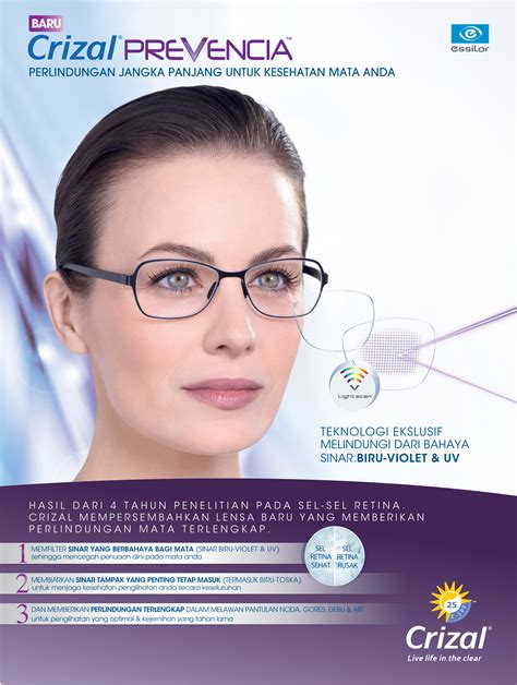 Pembersih Lensa Kacamata Essilor crizal indonesia so safe so clear