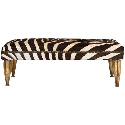 zebra benches zebra bench with gold leaf for sale at 1stdibs