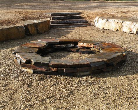 rock firepit wood burning firepits blueslate woodstone
