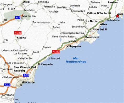 calpe spain map damara iii calpe buy or sell timeshare resales
