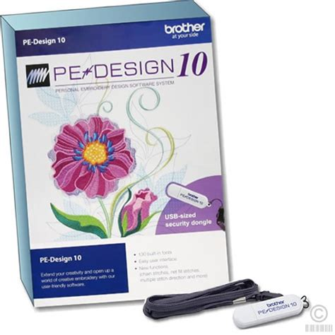 b ro designer pe design 10 embroidery software sewing machine