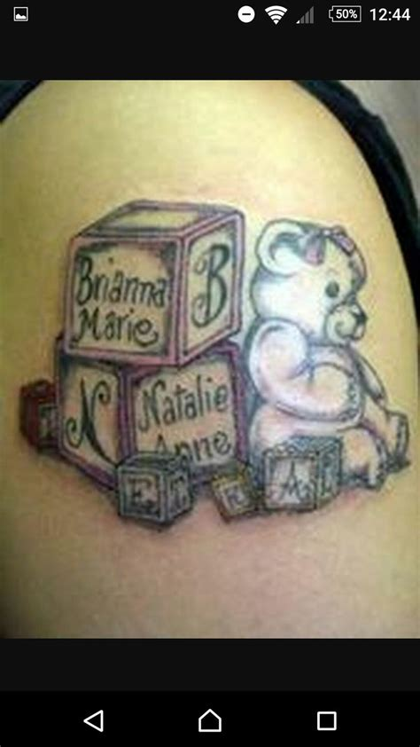 block tattoos 36 best baby blocks tattoos designs images on