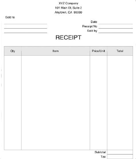 Gmail Receipt Template by 22 Receipt Templates Free Pdf Doc Excel Formats