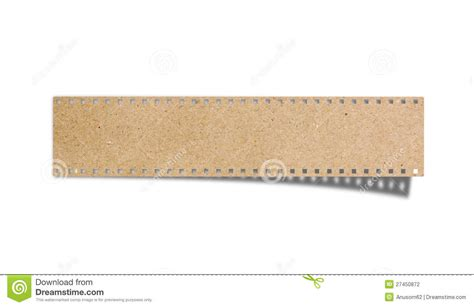 stick paper blank film strip recycled paper craft stick stock photo