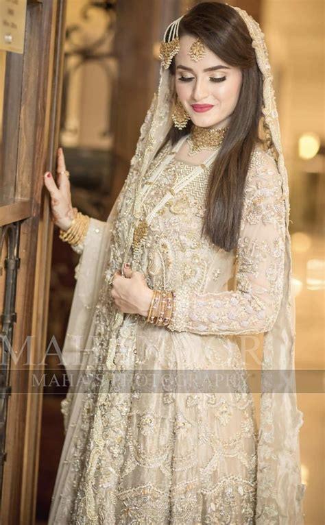 nikkah bride bridal dress design pakistani bridal