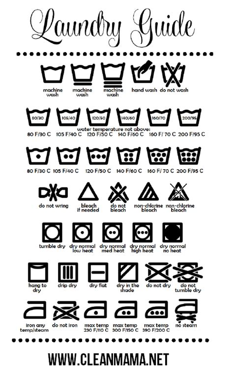printable laundry instructions modern day homekeeping laundry guide free printable