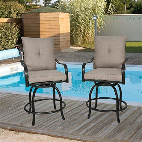 Outdoor Bistro Bar Stools by Iwicker 2 Outdoor Swivel Bistro Bar Stool Patiosme
