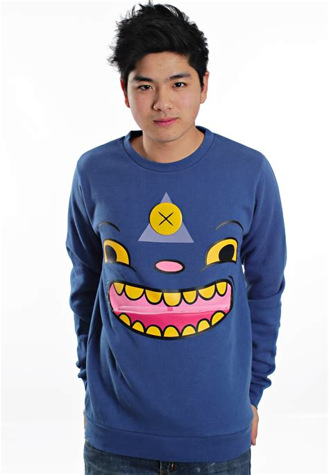 Sweater Drop Dead Drop Dead Tripster Blue Sweater Streetwear