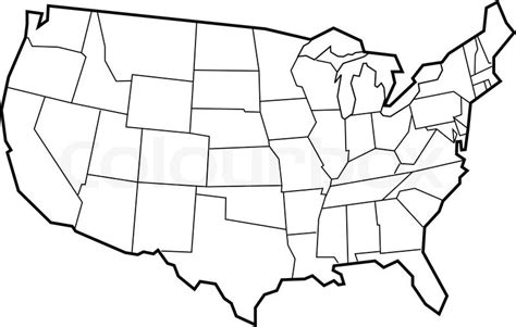 template of us map vector map of usa empty template for your designs stock vector colourbox