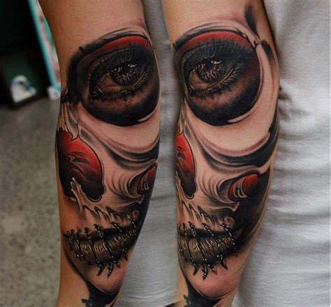 sugar skull sleeve tattoos realistic sugar skull tattoodenenasvalencia