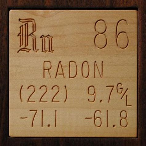 Which Country S Granite Has Less Radon - sle of the element radon in the periodic table