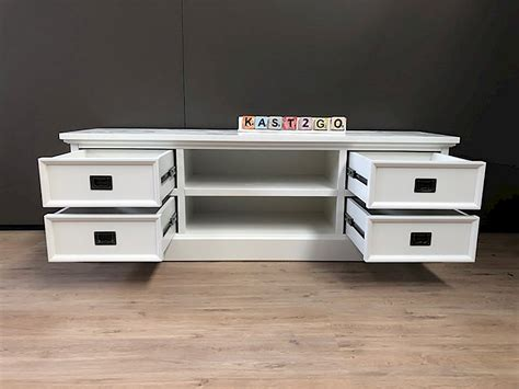 tv dressoir finn tv meubel finn wit wit 165 kast2go