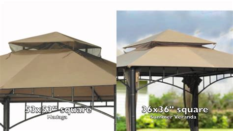gazebo awning replacement target madaga gazebo replacement canopy youtube