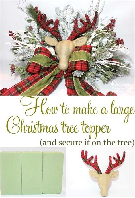 typography tree tutorial how to make a large christmas tree topper tree toppers
