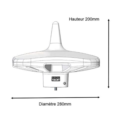 dtv100 marine tv antenna for boat digital yacht