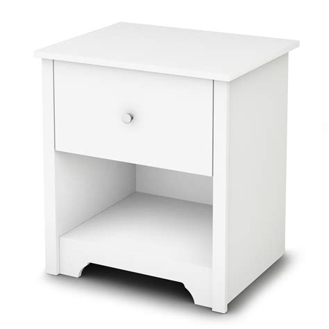 white night tables for bedroom south shore vito pure white night stand 3150062